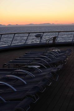 Enjoy a quiet evening on deck.