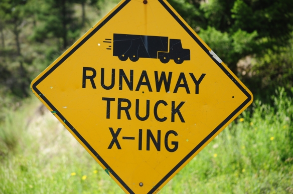I am glad the runaway trucks know where to cross...